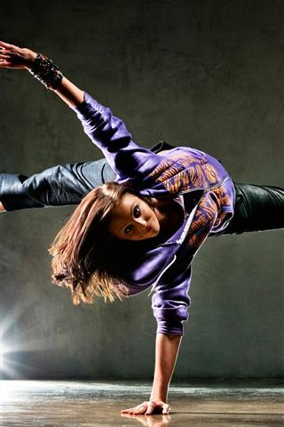 iPhone Wallpaper Dancing girl, pose, light