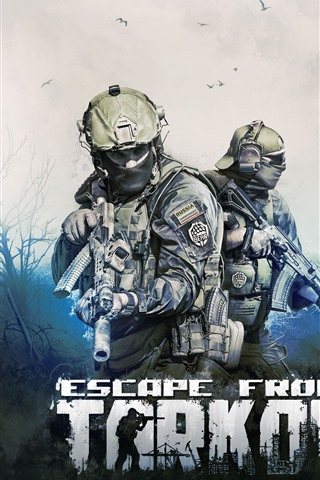 iPhone Wallpaper Escape from Tarkov, video game