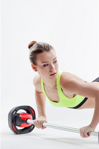 iPhone Wallpaper Fitness girl, slim, sport