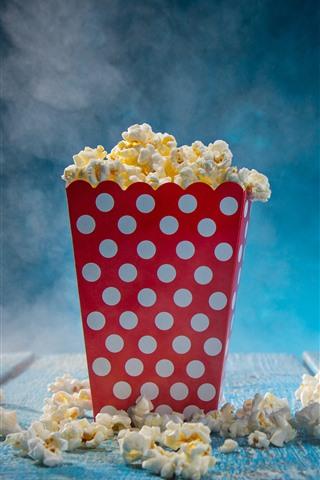 iPhone Wallpaper Food, popcorn