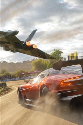 iPhone Wallpaper Forza Horizon 4, Aston Martin supercar speed
