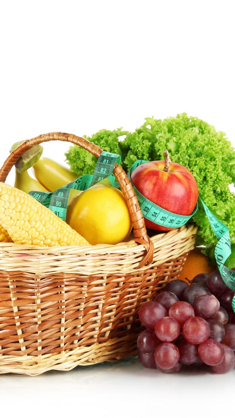 Wallpaper Fruit And Vegetables Corn Apples Lemon