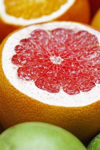 iPhone Wallpaper Grapefruits and oranges