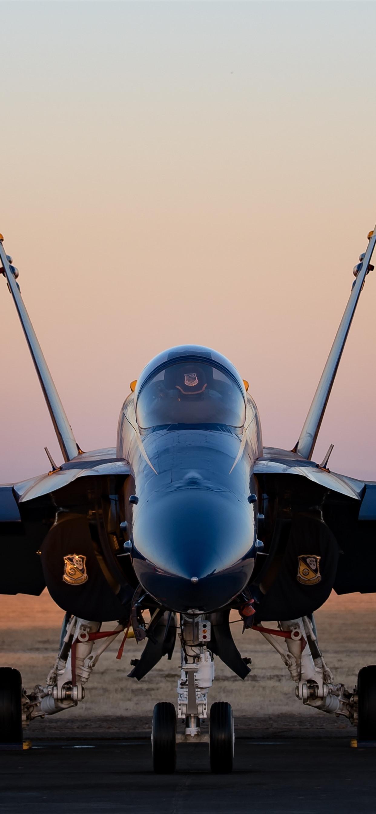 Wallpaper Hornet Cf 18 Fighter Front View 5120x2880 Uhd 5k