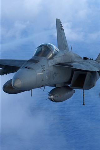 iPhone Wallpaper McDonnell Douglas FA-18 bomber