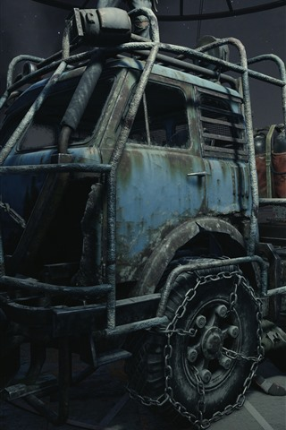 iPhone Wallpaper Metro Exodus, tractor