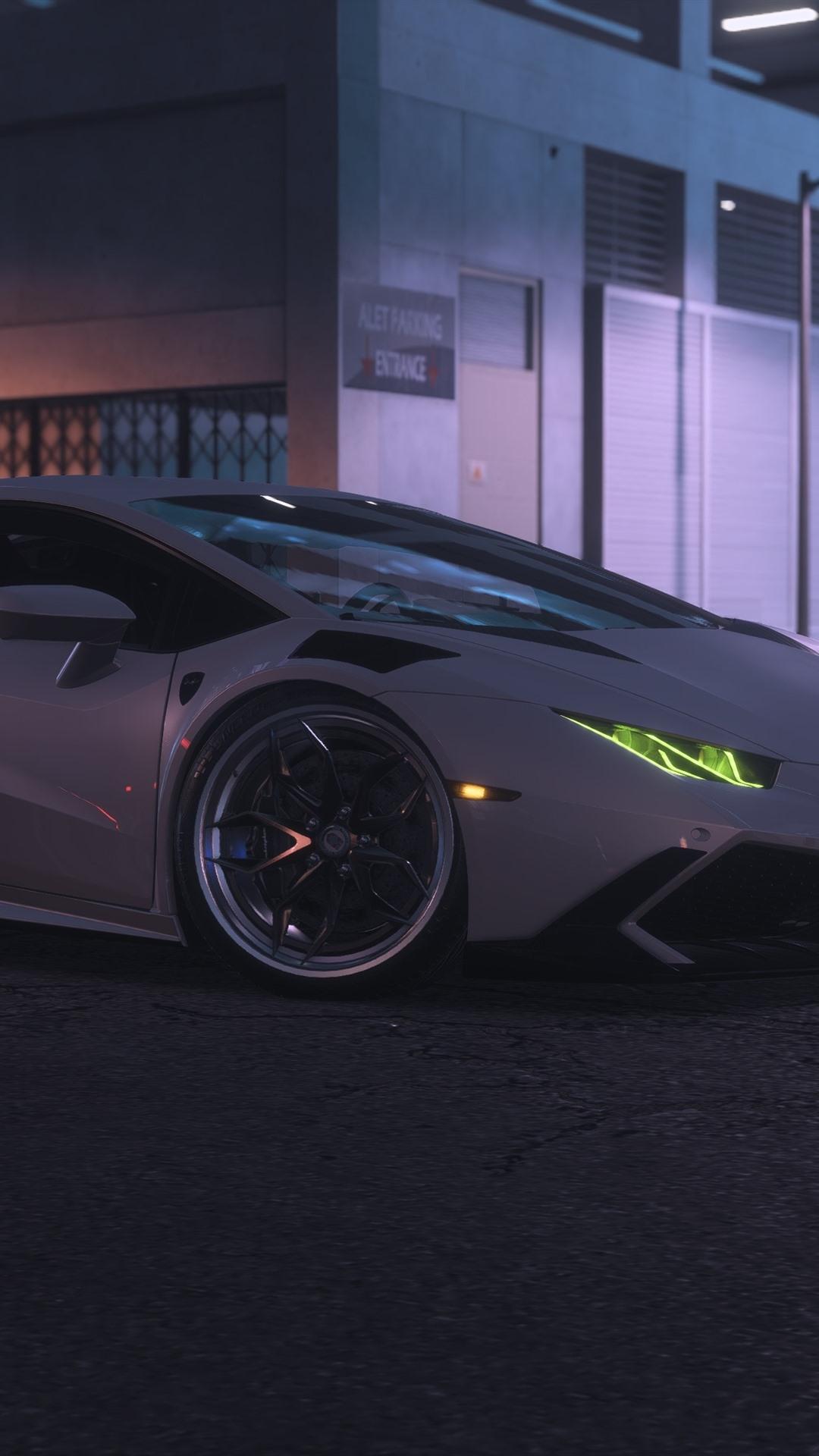 Wallpaper Need For Speed Payback White Lamborghini Supercar