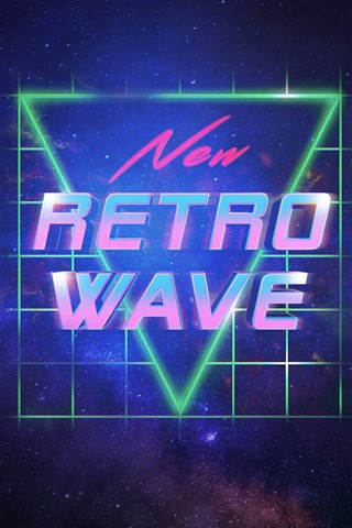 iPhone Wallpaper New Retro Wave, Synth pop