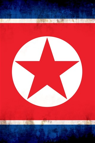 iPhone Wallpaper North Korea flag, creative picture