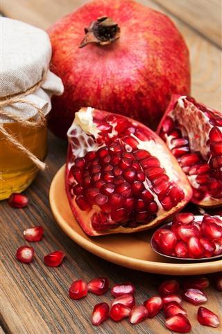 iPhone Wallpaper Pomegranate, honey