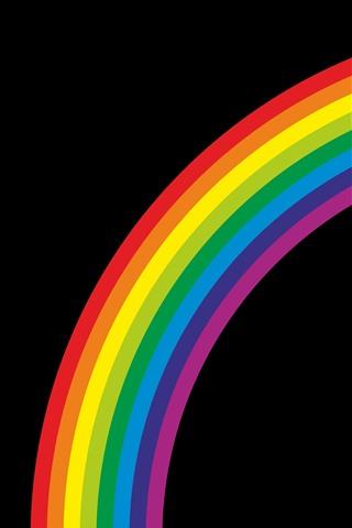iPhone Wallpaper Rainbow, black background