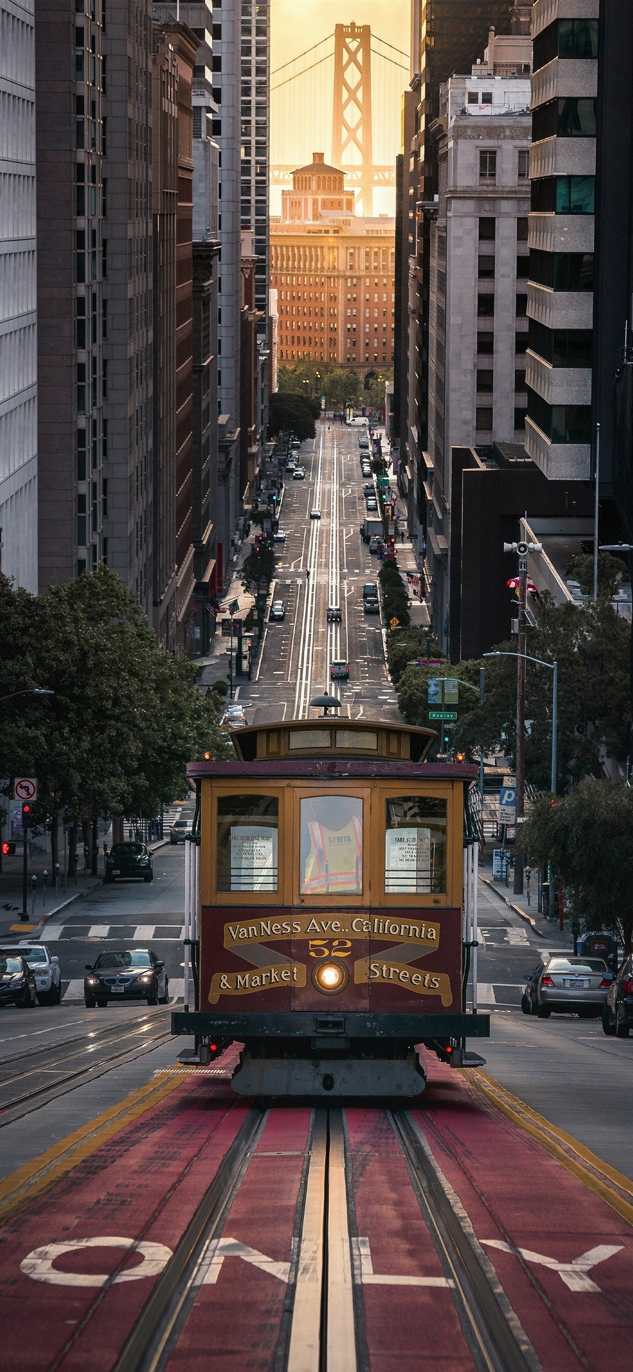 San Francisco City Street Tram Usa 1242x2688 Iphone 11 Pro Xs Max Wallpaper Background Picture Image