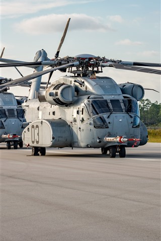 iPhone Wallpaper Sikorsky CH-53K heavy-lift cargo helicopter