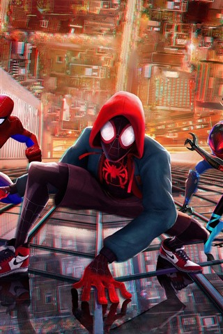 iPhone Wallpaper Spider-Man: Into the Spider-Verse, DC Comics movie