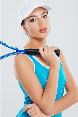iPhone Wallpaper Sport girl, tennis