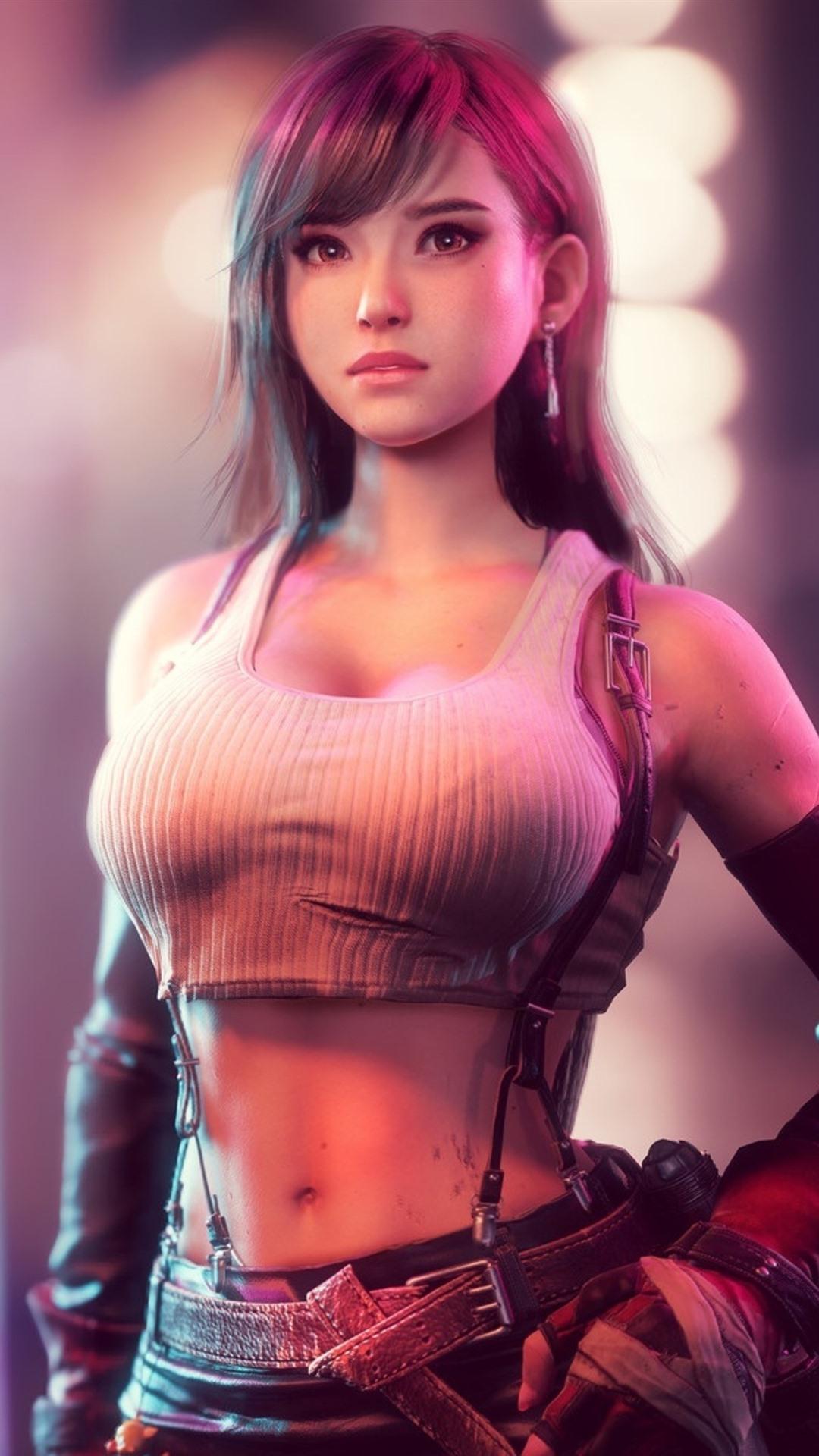 Tifa lockhart beautiful girl final fantasy 1080x1920 - Final fantasy phone wallpaper ...