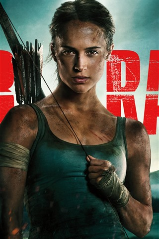 iPhone Wallpaper Tomb Raider, Lara Croft, arrows, 2018 movie
