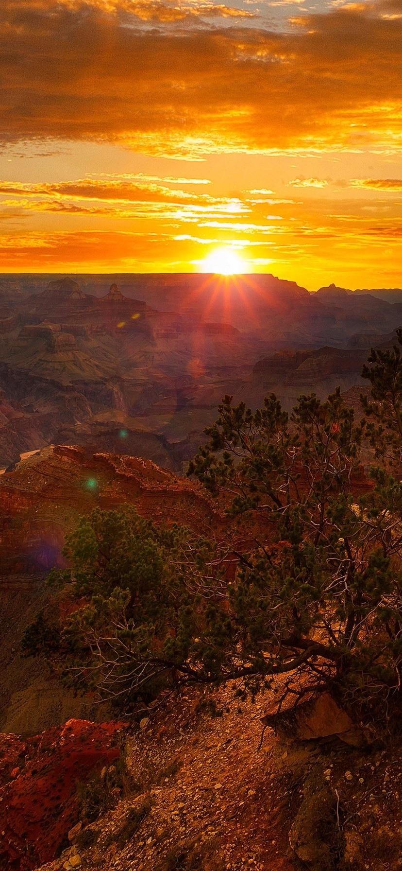 Usa Canyon Rocks Clouds Sunset 828x1792 Iphone Xr