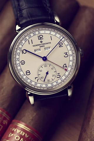iPhone Wallpaper Vacheron Constantin watch, cigar