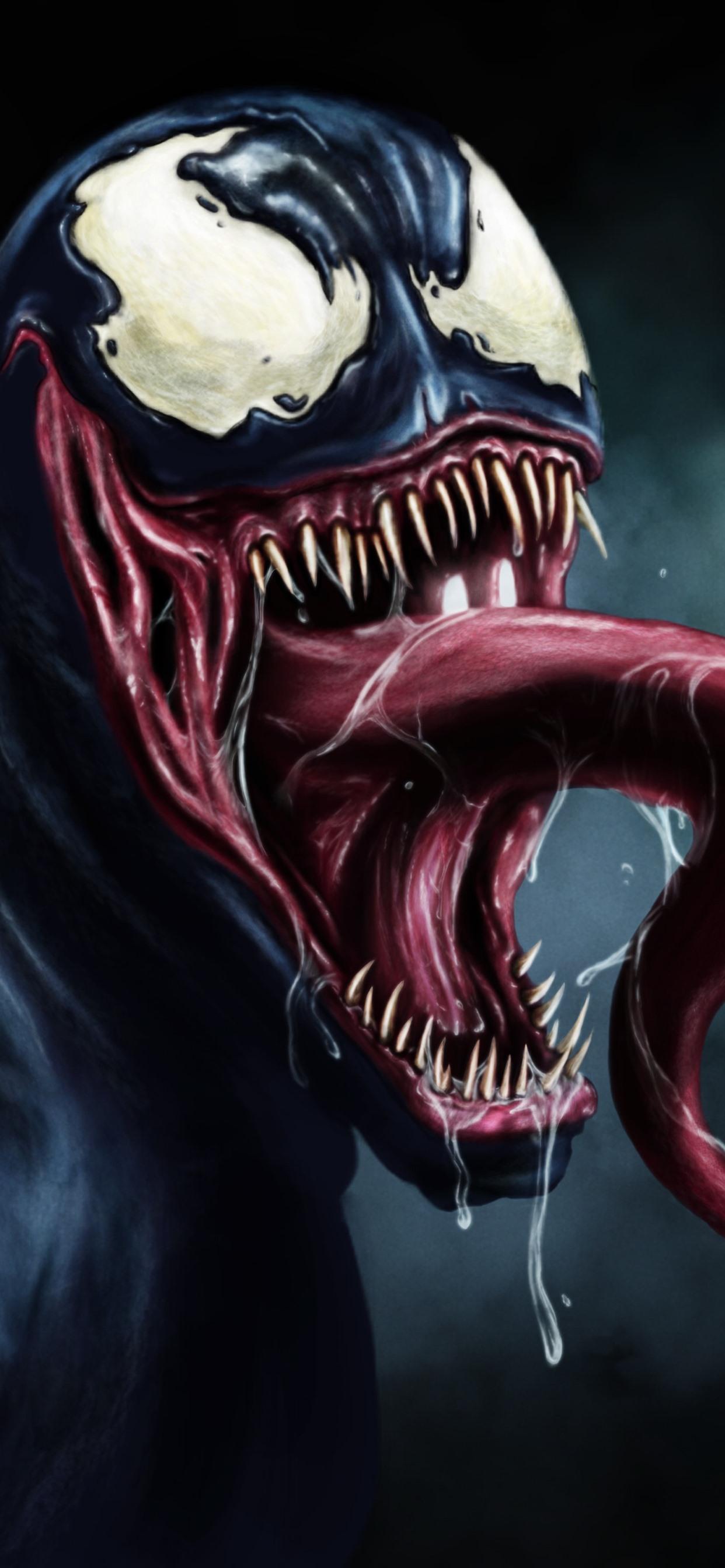 Venom Dc Comics Art Picture Black Background 1242x2688