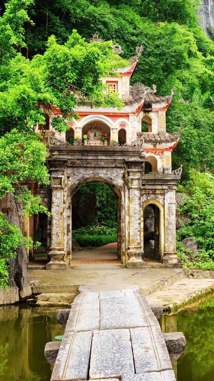 Wallpaper Vietnam Ninh Binh Province Bushes Mountains