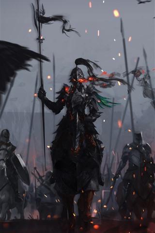 iPhone Wallpaper Warriors, armor, knight, war, art picture