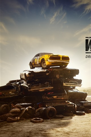 iPhone Wallpaper Wreckfest, racing game