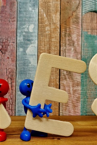 iPhone Wallpaper Yes, words, toys
