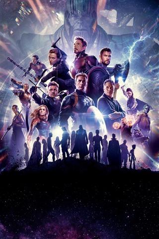 iPhone Wallpaper 2019 movie, Avengers 4: Endgame, Marvel superheroes
