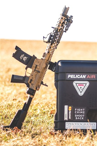 iPhone Wallpaper AR15 assault rifle, box, grass