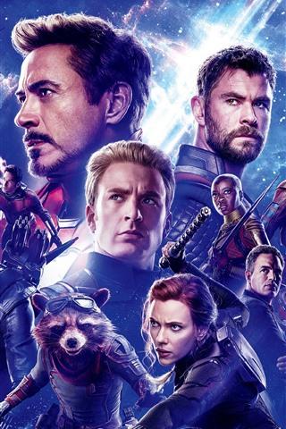 iPhone Обои Мстители: Эндшпиль, супергерои Marvel