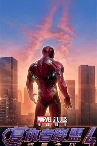 iPhone Wallpaper Avengers: Endgame, superheroes, Shanghai