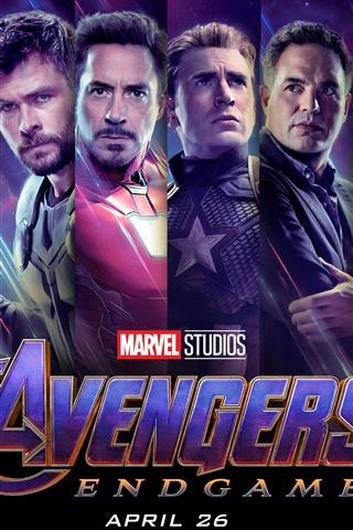iPhone Wallpaper Avengers: Endgame, superheroes, movie 2019