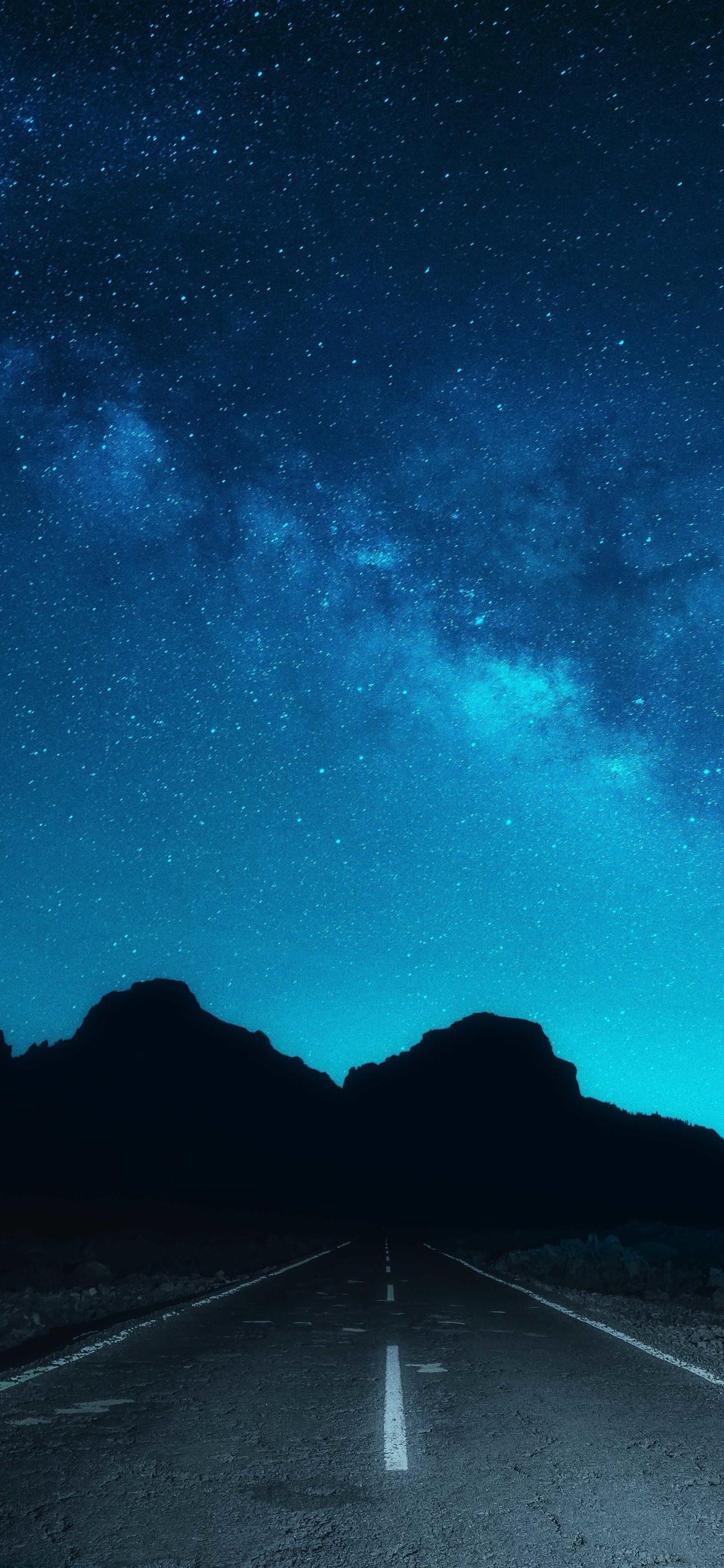 壁紙 美しい夜空 星空 道路 51x Uhd 5k 無料のデスクトップの背景 画像