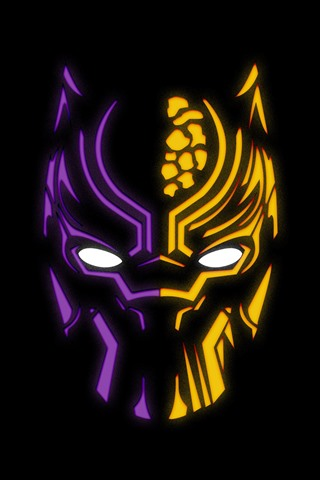 Black Panther Logo Black Background 1080x1920 Iphone 876