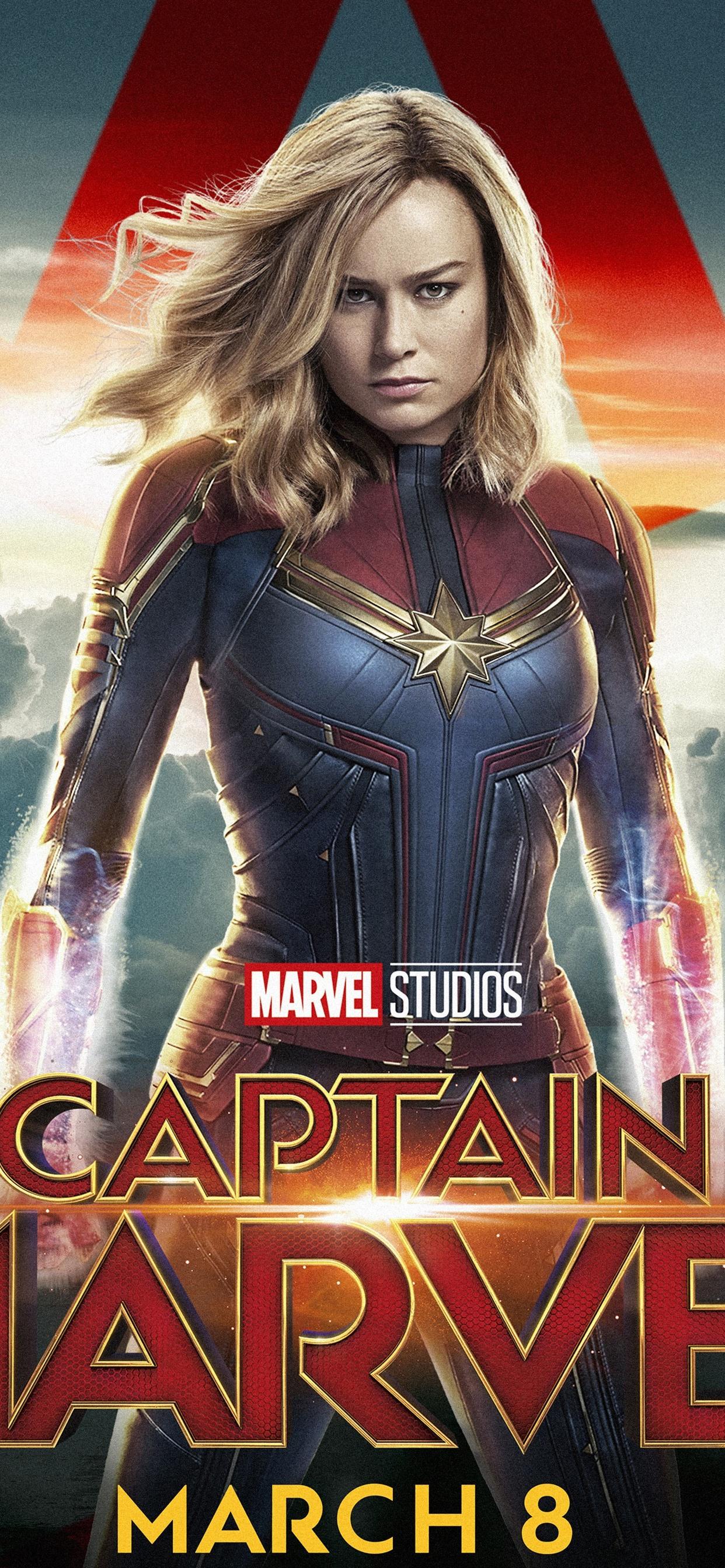 Captain Marvel Brie Larson 1242x2688 Iphone Xs Max Wallpaper
