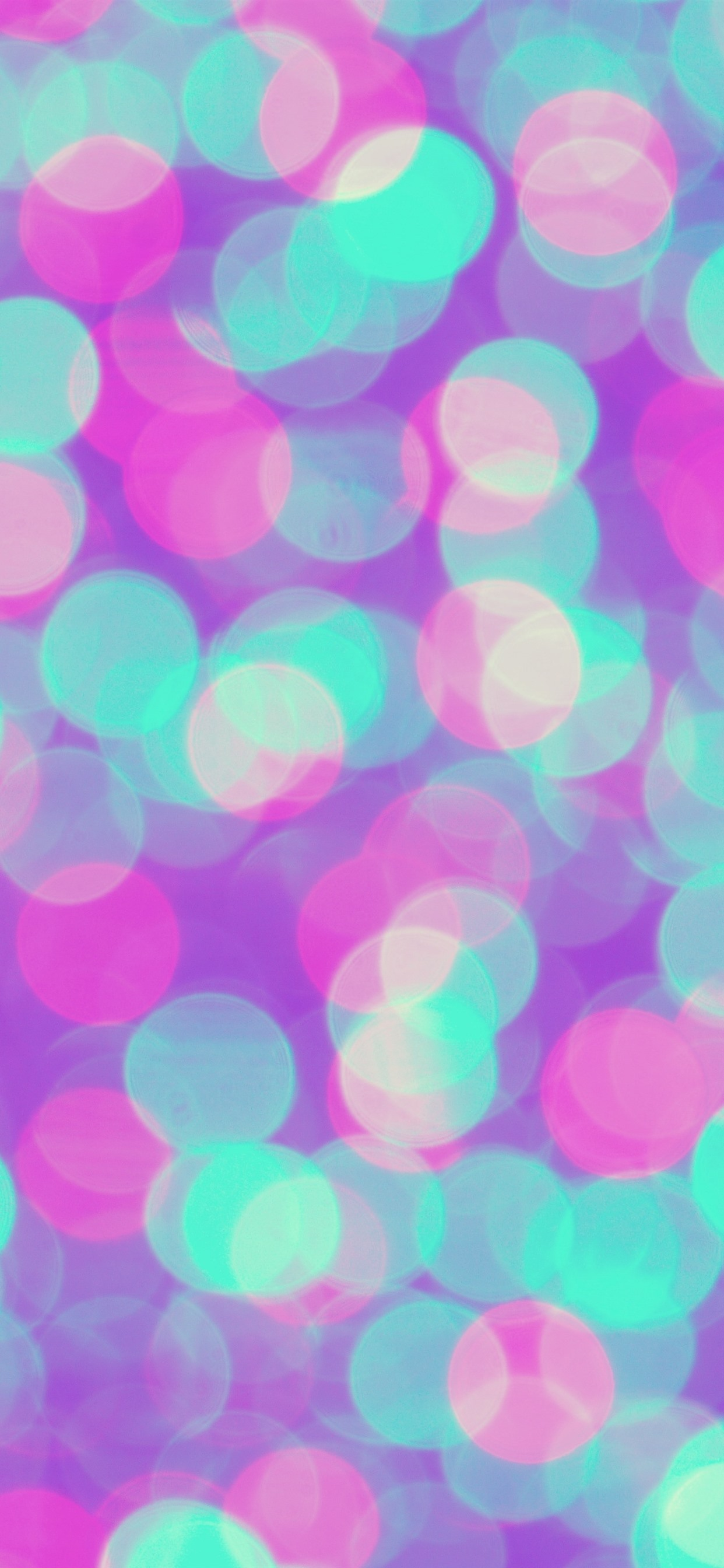 Colorful Light Circles Abstract Background 1242x2688 Iphone