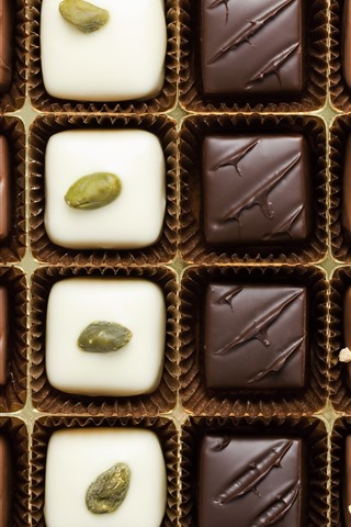 iPhone Wallpaper Different kinds of chocolate candy, sweet food