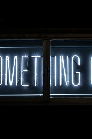 iPhone Wallpaper Do Something Great, neon light