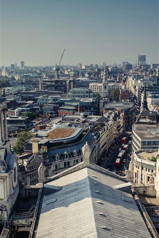 iPhone Wallpaper England, London, city, buildings, street