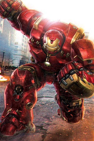 iPhone Wallpaper Hulkbuster and Hulk, battle