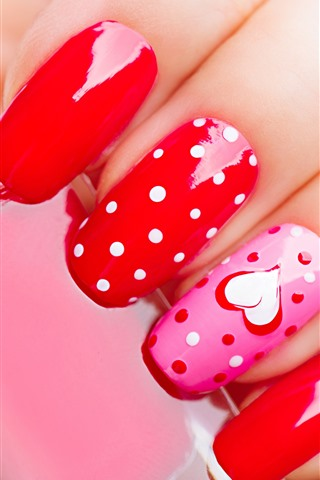 iPhone Wallpaper Manicure, fingers, nails, paint