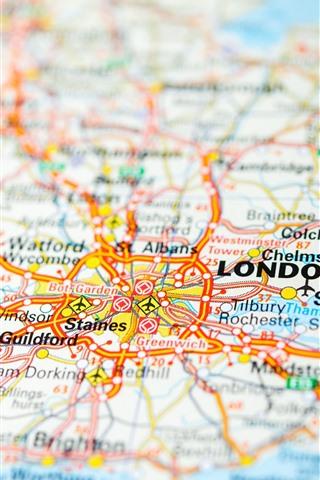 iPhone Wallpaper Map, England, London