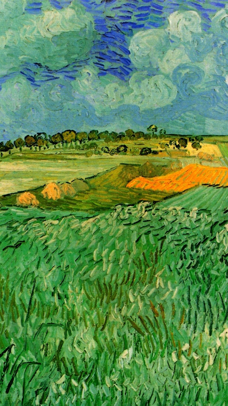Oil Painting Fields Countryside Vincent Van Gogh
