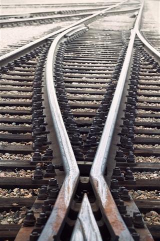 iPhone Wallpaper Railroad, track, rusty