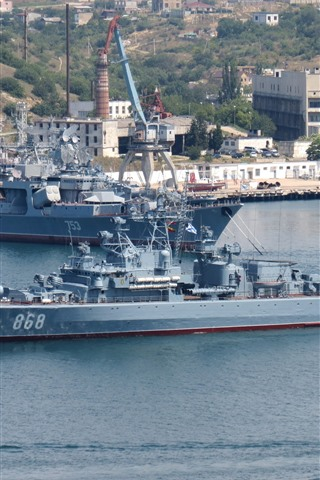 iPhone Wallpaper Ship, battleship, sea, coast