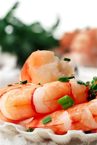 iPhone Wallpaper Shrimp, seafood, food