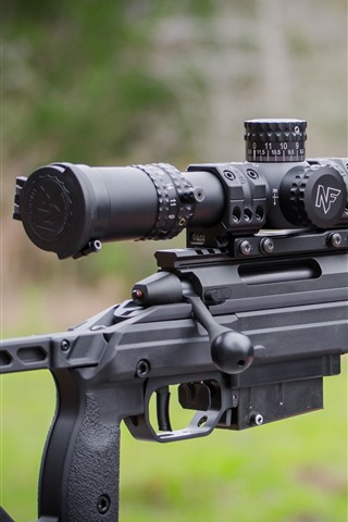 iPhone Wallpaper Sniper rifle, weapon close-up