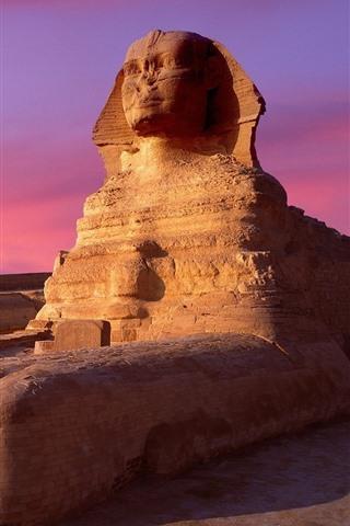iPhone Wallpaper Sphinx, Egypt, dusk