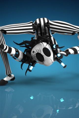 iPhone Wallpaper Spider robot, creative design